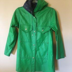 Vintage Lot One Reversible Kelly Green Raincoat
